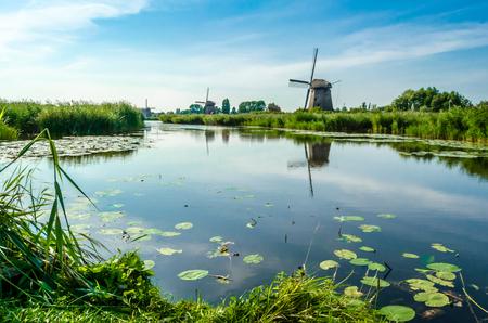 Typical Dutch landscape Banco de Imagens