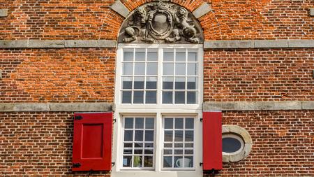 ALKMAAR, THE NETHERLANDS - APRIL 22, 2016: Architecture detail in Alkmaar, the Netherlands Editorial
