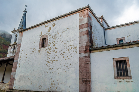 Small church in the village of Soto de Agues in Asturias, northern Spain