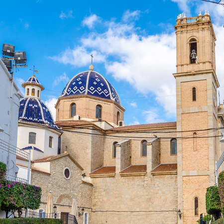 Beautiful Church of Our Lady of Consolation in the Mediterranean village of Altea, Alicante province, Spain
