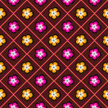 Floral seaml pattern for printing on paper, paper_bag