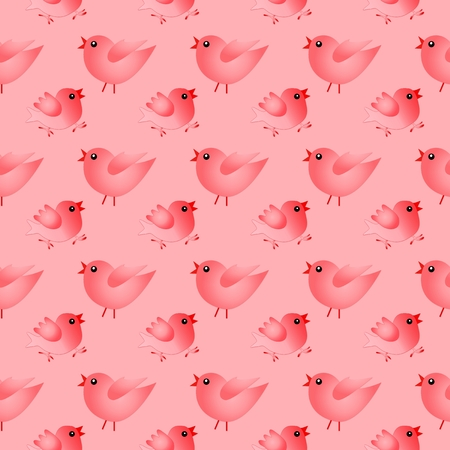 Happy Easter. Rot seamless pattern with birds.
