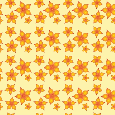 Yelow floral pattern for printing on paper, textile, paper bag, Stock Photo