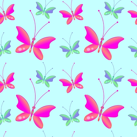 incest: Seamless background with bright colorful butterflies . Perfect for background greeting cards and invitations to the day of the wedding, birthday.