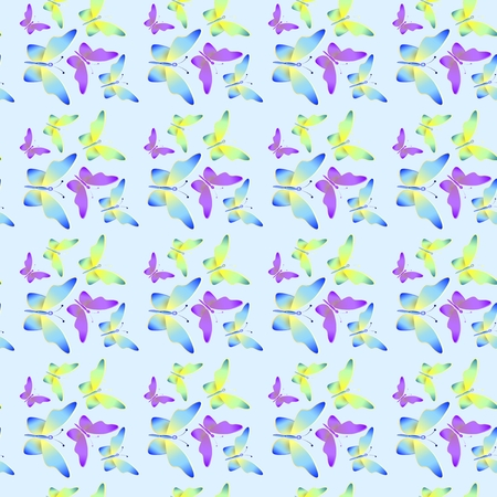 incest: Seamless background with bright colorful butterflies .