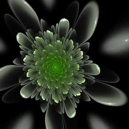 Dark fractal flower, digital artwork for creative graphic design. Фото со стока - 85334356