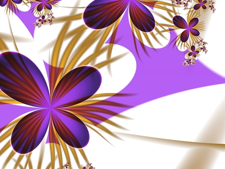 ap: Fractal background with space for your text. illustration for your design Stock Photo