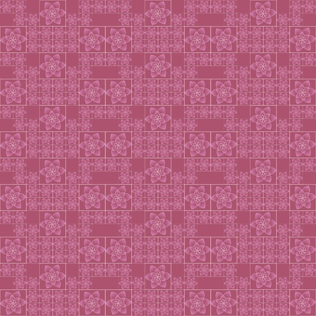 Seamless pattern with floral design. Regular texture with flowers. Beautiful flowers on pink background.