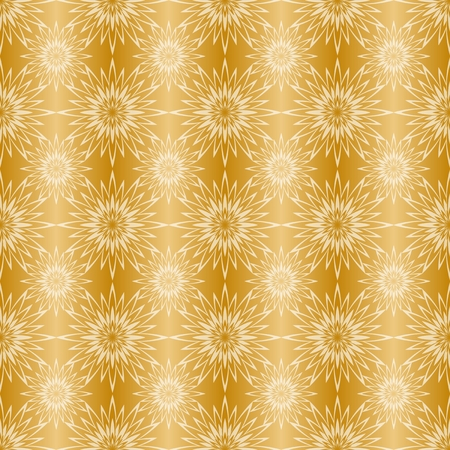 Gold background with seamless pattern, suitable as wrapping paper.Gold paper with seamless abstract pattern. Imitation of gold.