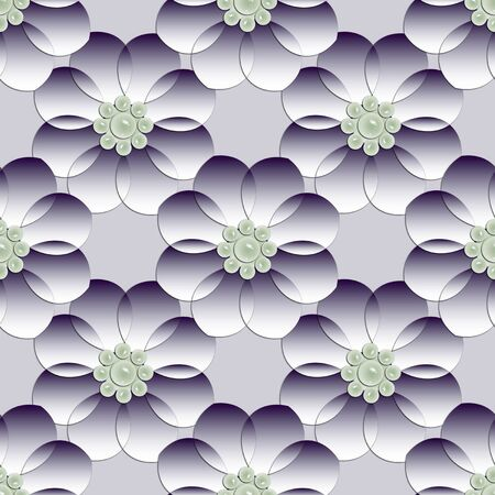 Paper in arabic style with flowers in the background. Texture with the design of cut flowers.Paper flowers as an endless background.