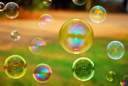 bulles: Automne bulles de savon