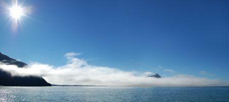 Journey to Mountain Morning in Alaska  photo