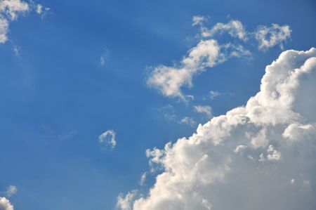 Blue sky and big shining clouds Stock Photo - 4914724