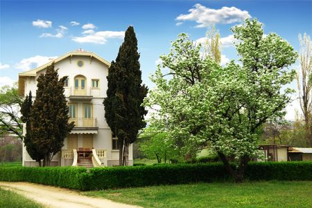 Family home and 2 trees infront Stock Photo - 5134002