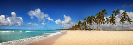 panorama beach: Spiaggia tropicale esotico, Punta Cana