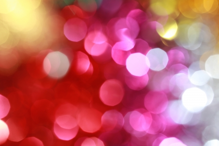Colourful Christmas Lights Abstract Background