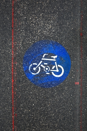 Bicycle Road Sign in the city  photo