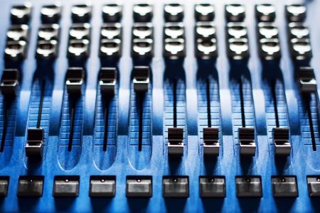 pult: Scheda audio mixer Archivio Fotografico