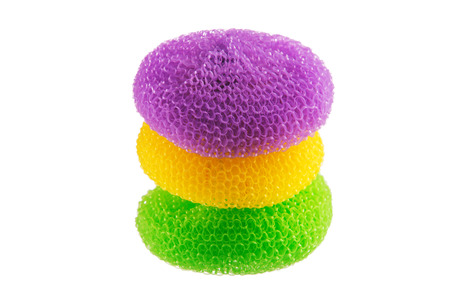 Group of kitchen sponges isolated on the white background Stock Photo - 25375052
