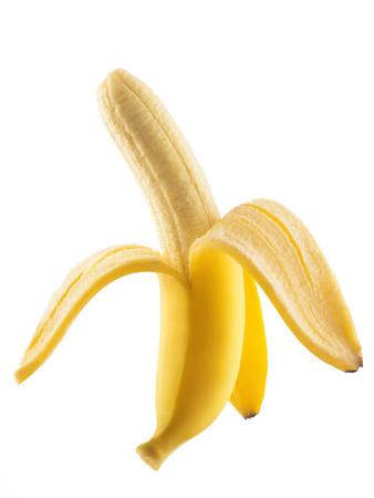 banana peel: Healthy banana isolated on white background