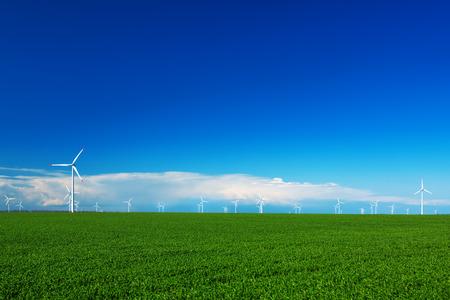 wind turbines: Wind turbine and green field