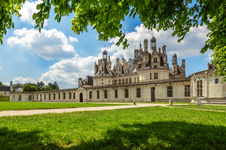 The royal Castle of Chambord in Cher Valley, France  Editorial