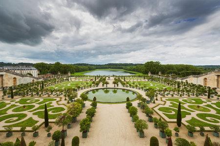 Beautiful garden in a Famous palace Versailles, Paris, France Editorial