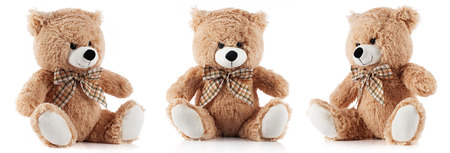 Toy teddy bear isolated on white background Фото со стока