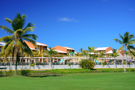 resort beach: Luxury resort beach in Punta Cana, Dominican Republic