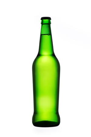 green beer bottle: Green beer bottle isolated on white background
