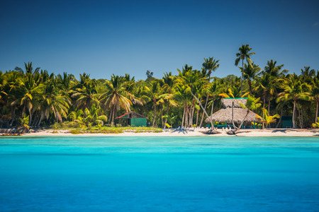 Caribbean wild beach, Punta Cana Stock Photo