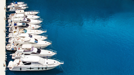 Luxury yachts dropped anchor in seaport of Monte Carlo, Monaco Stock fotó - 41033587