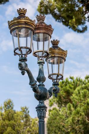 vintage look: Old street lantern, vintage look Stock Photo