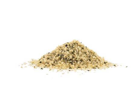 Shelled organic hemp seeds Stock Photo
