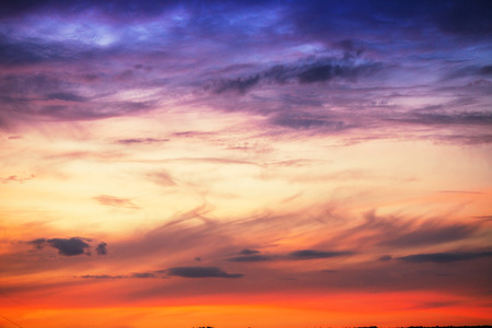 sky clouds: Sunset cielo dram�tico nubes