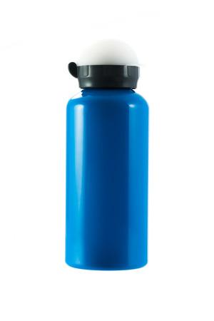 tumbler: Blue sport tumbler isolated on a white background Stock Photo