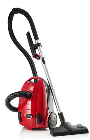 cleaner: New Vacuum Cleaner isolated on a white background