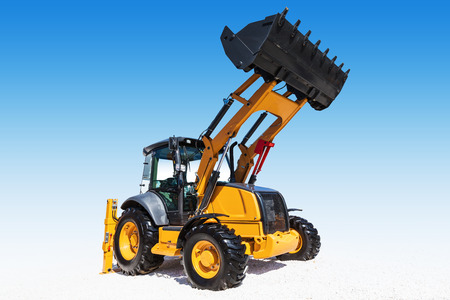 earthmover: Excavator, isolated with clipping path