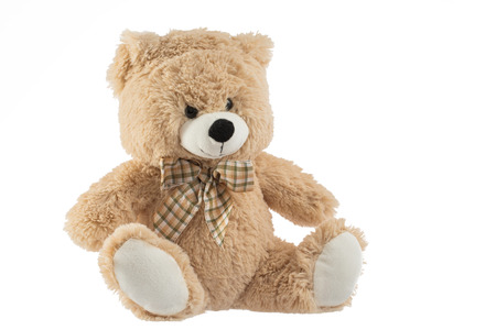 vintage teddy bears: Toy teddy bear isolated on white background Stock Photo