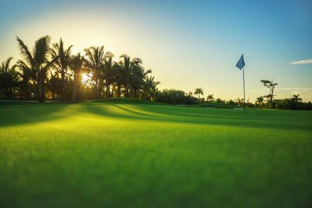 Golfbaan op het platteland