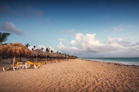 cana: Exotic Beach in Dominican Republic, Punta Cana, sunrise