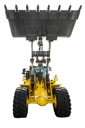 earthmover: Bulldozer, isolated on white background Stock Photo