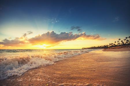 panoramic beach: beach Stock Photo
