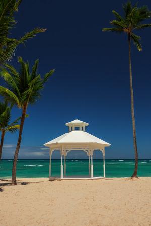 carribean: Wedding set up or altar on tropical carribean island