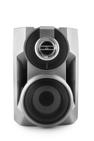 woofer: Black speaker isolated on white with clipping path