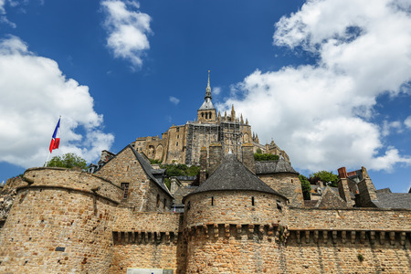 mont saint michel: The fortress Mont Saint Michel in France