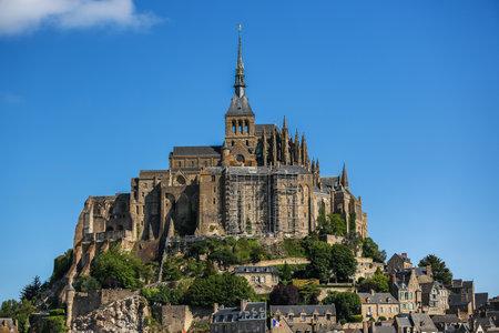 mont saint michel: The fortress Mont Saint Michel in France