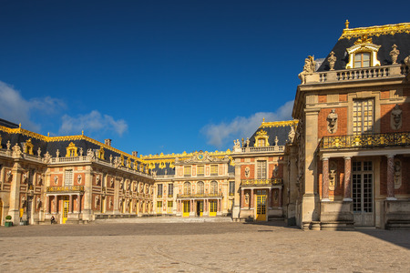 chateau: Facade of Versailles Chateau in France Editorial