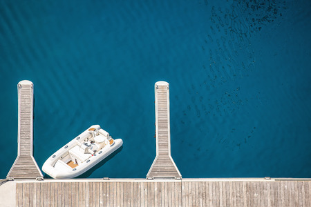 arial views: Arial view of Monte Carlo harbour in Monaco. Azur coast. Stock Photo