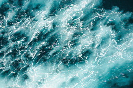 arial views: Abstract splash turquoise sea water for background